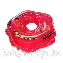 BABY SWIMMER Круг для купания ( 3-12кг) Красный Полноцвет