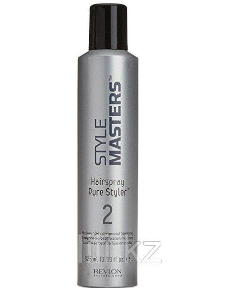 Лак неаэрозольный средней фиксации Revlon Style Masters Pure Styler Average Fixation Hairspray 325 мл.