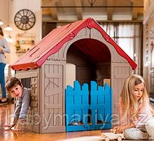 Игровой дом Keter Foldable Playhouse складной Бежевый/красный Biege/Red (101.8x89.7x110.6h)