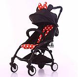 Детская Коляска BabyTime компактная и удобная Аналог YOYO Минни Маус, фото 4
