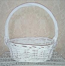 Корзина плетеная  из лозы Белая 37 см