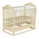 МОЙ МАЛЫШ Кровать детская 07 колесо+ качалка с ящиком с накладкой Сердечко, фото 2