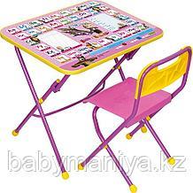 Набор мебели НИКА  МАША И МЕДВЕДЬ (стол-парта+пласт стул)  Азбука3