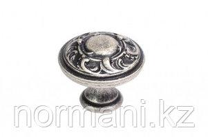 Мебельная ручка для кухни старое серебро
