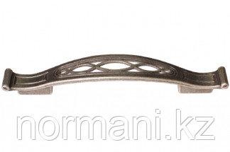 Мебельная ручка, замак, размер посадки 128-096мм, цвет серебро античное