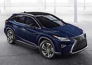 """Порог-площадка """"Black"""" Lexus RX 2015-"""