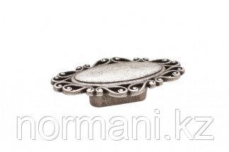 Мебельная ручка, замак, размер посадки 32мм, цвет серебро старое