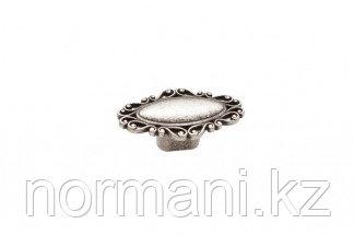 Мебельная ручка кнопка, замак, цвет серебро старое