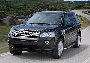 "Порог-площадка ""Premium"" Land Rover Freelander 2012-2014"
