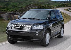 """Порог-площадка """"Black"""" Land Rover Freelander 2012-2014"""
