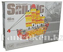 Металлический конструктор INTELLIGENT Парусный корабль (455 деталей)