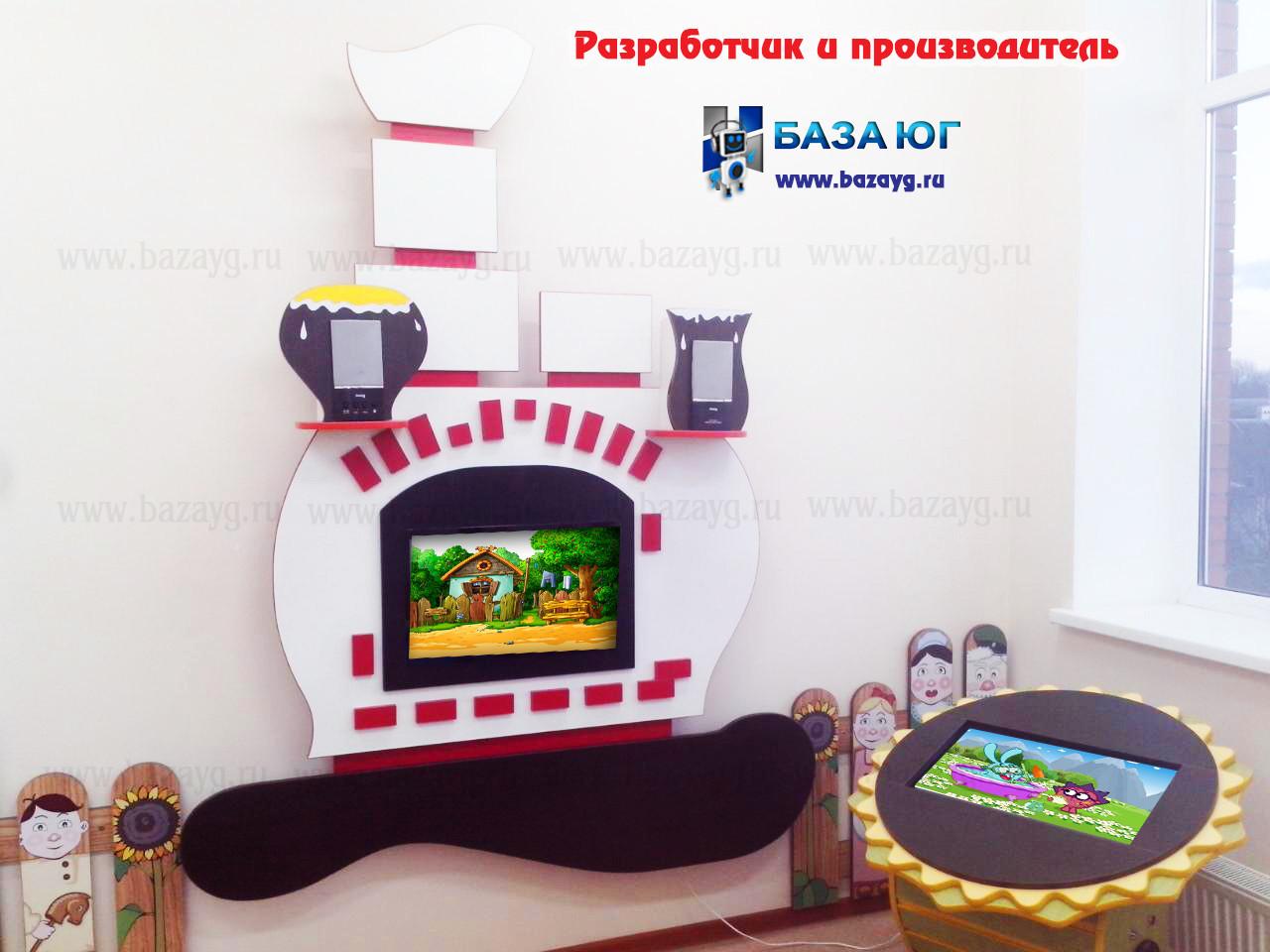 Интерактивная сенсорная панель Печь
