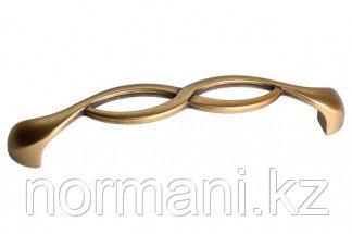 Мебельная ручка, замак, размер посадки 128мм, цвет бронза античная французская