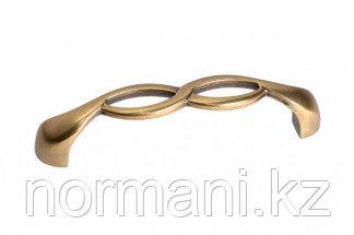Мебельная ручка, замак, размер посадки 96мм, цвет бронза античная французская