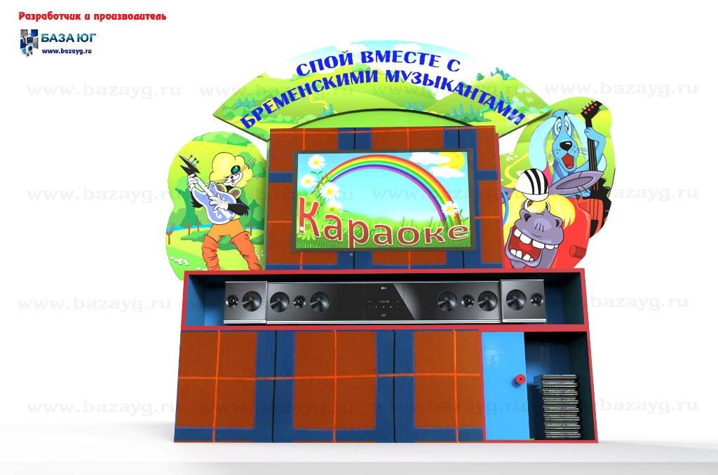 Интерактивная сенсорная панель Бременские музыканты