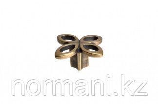 Мебельная ручка кнопка, замак, цвет бронза античная французская