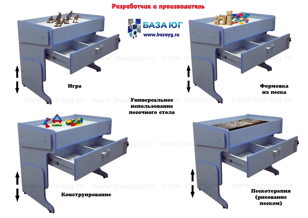 Стол для песочной анимации регулируемый с подсветкой - фото 4
