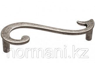 Мебельная ручка для кухни 96  (правая) серебро старое