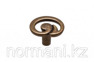 """Мебельная ручка кнопка, замак, цвет бронза """"Флоренция"""""""