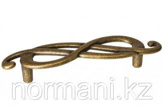 """Мебельная ручка, замак, размер посадки 96мм  (правая), цвет бронза """"Флоренция"""""""