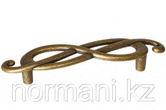 "Мебельная ручка, замак, размер посадки 96мм  (левая), цвет бронза ""Флоренция"""