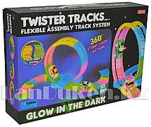 Светящаяся дорога Twister Tracks с петлей (Magic Track) 52 детали