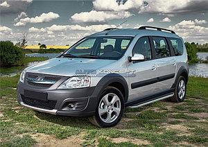 """Порог-площадка """"Premium"""" Lada Largus Cross 2014-"""