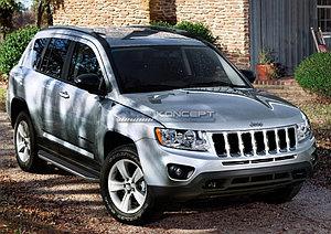 """Порог-площадка """"Premium"""" Jeep Compass 2013-2016"""