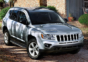 """Порог-площадка """"Premium"""" Jeep Compass 2011-2013"""