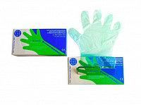 Перчатка ветеринарная п/э ПВ 90/20, цвет-зеленый, упак. 100 шт в коробке, ВИК-Гамета ЭКО