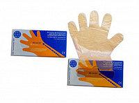 Перчатка ветеринарная п/э ПВ 90/25, цвет-оранжевый, упак. 100 шт в коробке, ВИК-Гамета Премиум
