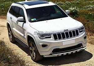 "Порог-площадка ""Black"" Jeep Grand Cherokee 2010-2013"