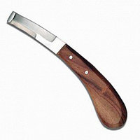 Нож копытный обоюдоострый с деревянной ручкой (Пак)