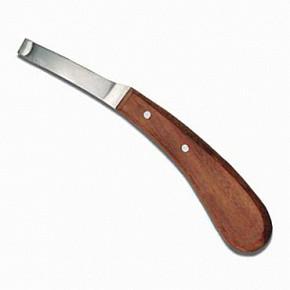 Нож копытный с деревянной ручкой левый (Пак.)