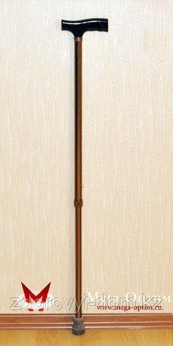 Трость телескопическая с пластмассовой ручкой