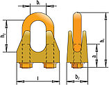 Зажимы винтовые канатные DIN 1142 диаметр каната 30 мм, фото 2