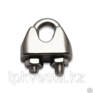 Зажим винтовой канатный DIN 741 диаметр каната 12 мм