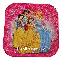 """Набор детских бумажных тарелок Принцессы Диснея """"10 шт"""" для пикника, праздника (одноразовые)"""