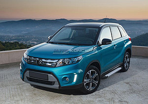"Порог-площадка ""Silver""  Suzuki Vitara 2015-"
