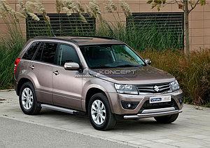 "Порог-площадка ""Silver""  Suzuki Grand Vitara, 5D 2008-2012"