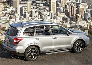 "Порог-площадка ""Silver""  Subaru Forester 2015-2016"