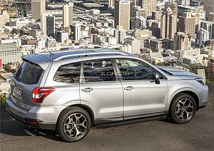 "Порог-площадка ""Black""  Subaru Forester 2013-2015"