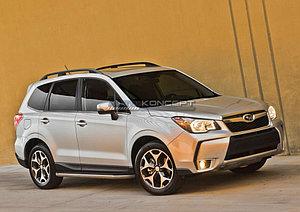 "Порог-площадка ""Premium"" Subaru Forester 2013-2015"