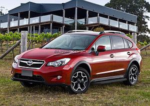 """Порог-площадка """"Black"""" Subaru XV 2011-2016"""