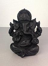 Статуэтка Ганеша, черный, глина, 9 см