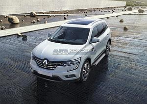 """Порог-площадка """"Silver"""" Renault Koleos 2016-"""