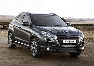 "Порог-площадка ""Black"" Peugeot 4008 2012-"