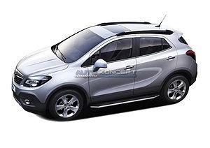 """Порог-площадка """"Premium"""" Opel Mokka 2012-2016"""