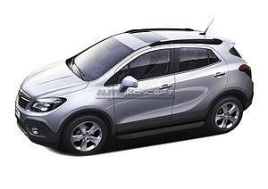 """Порог-площадка """"Black"""" Opel Mokka 2012-2016"""