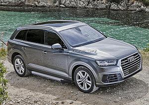 """Порог-площадка """"Silver"""" Audi Q7 2015-"""